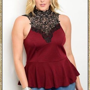 Tops - 'In The Name Of Love' Peplum Top (CURVY)